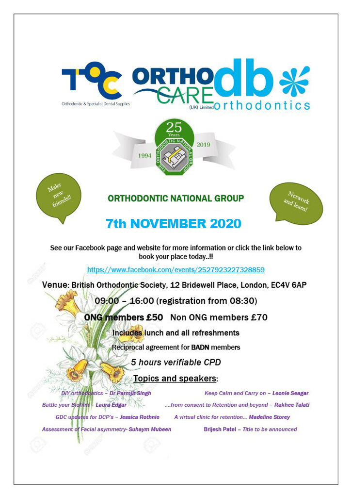 25 Years Orthodontic National Group Event 7th November